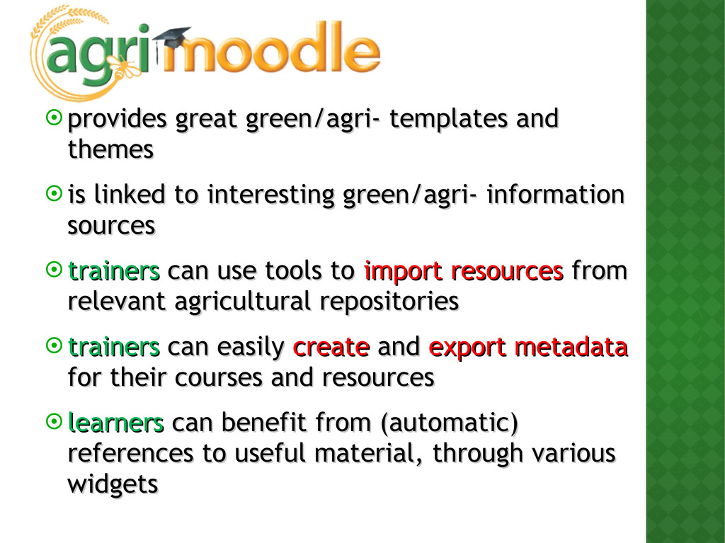  provides great green/agri- templates and prov...