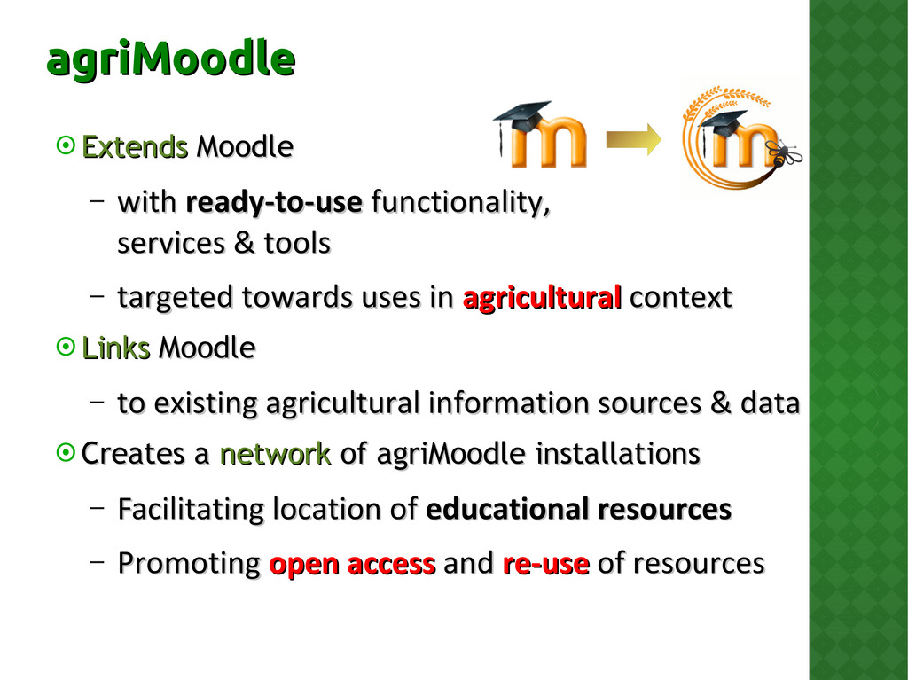  Extends Extends Moodle Moodle – with with rea...