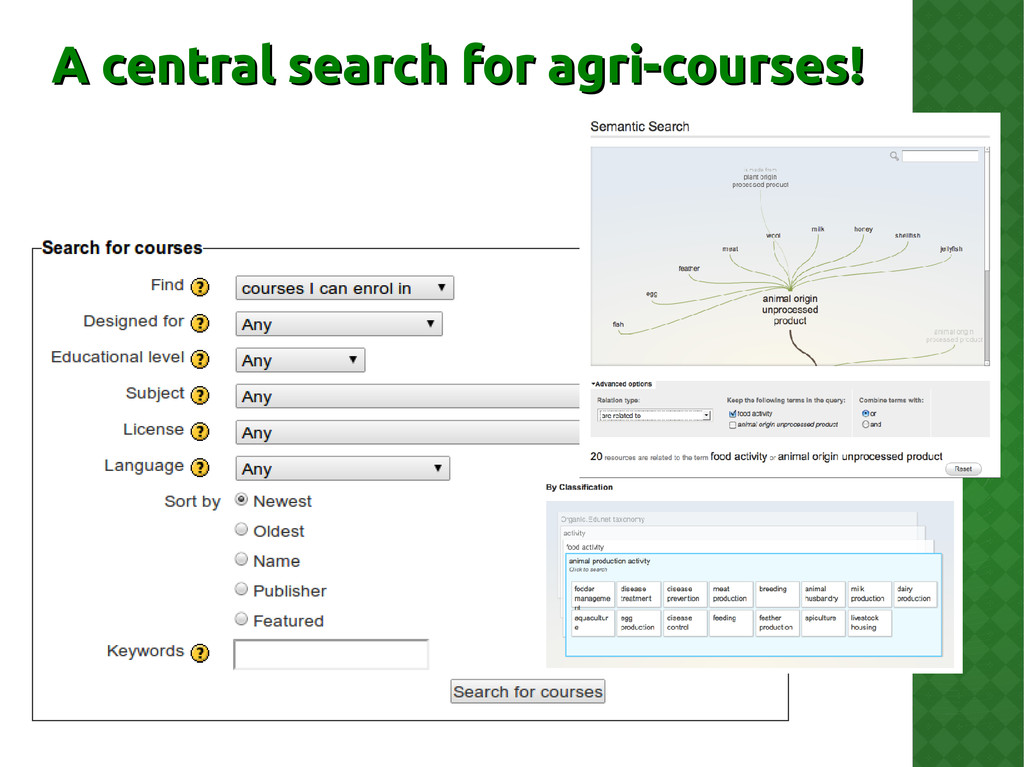 A central search for agri-courses! A central se...