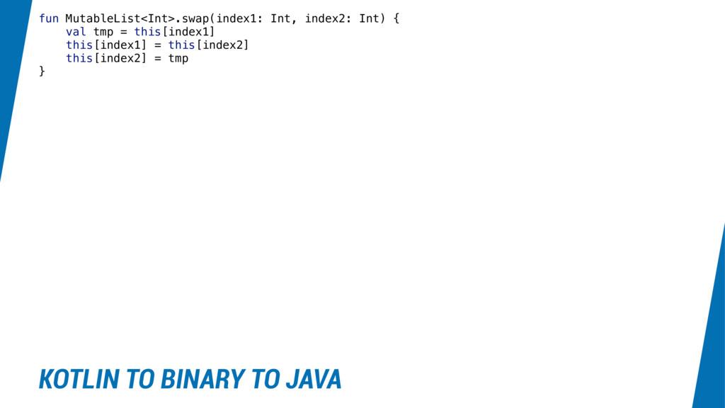 fun MutableList<Int>.swap(index1: Int, index2: ...