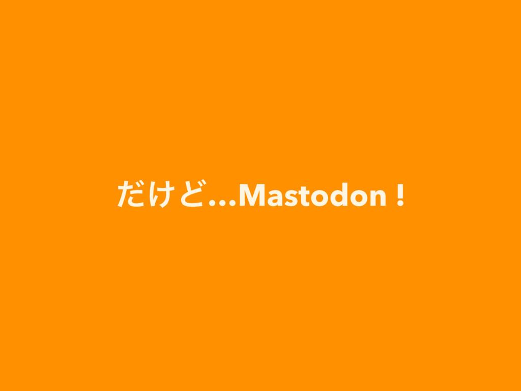 ͚ͩͲ…Mastodon !