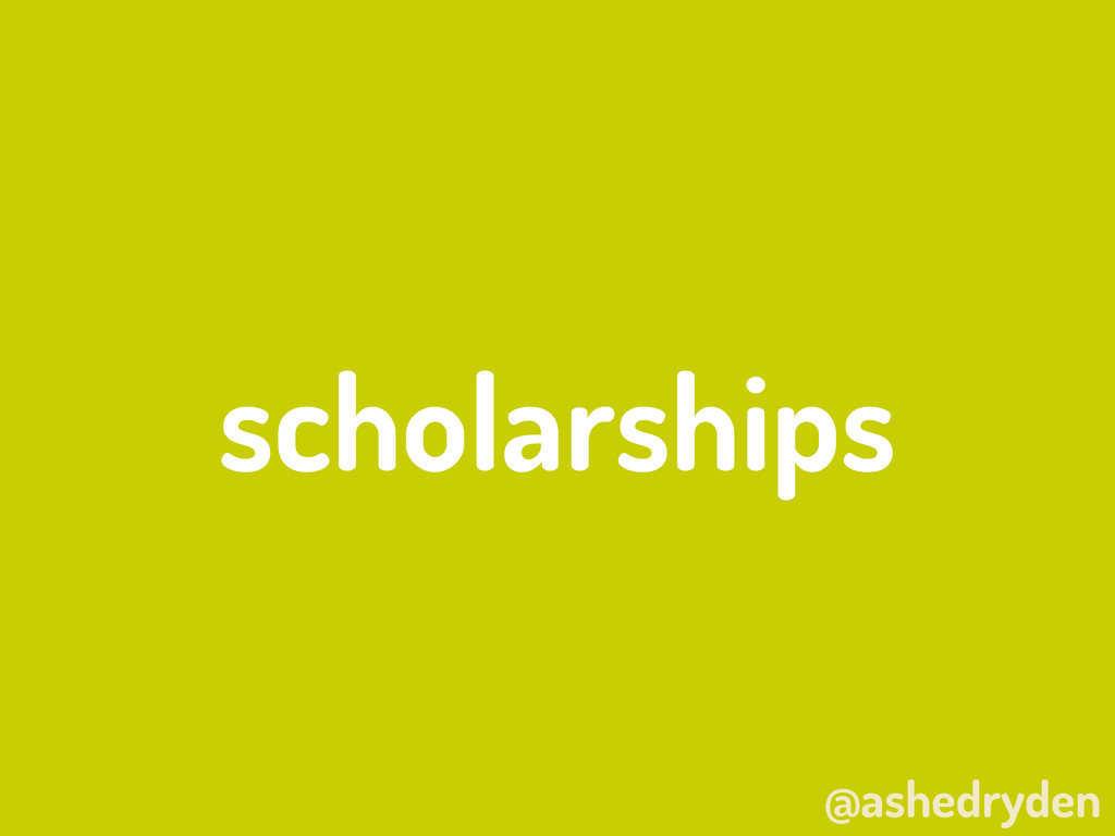 @ashedryden scholarships