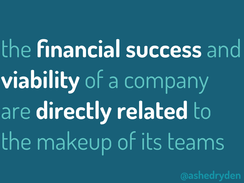 @ashedryden the financial success and viability ...