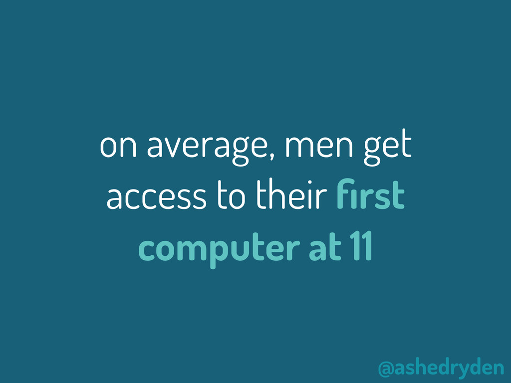 @ashedryden on average, men get access to their...