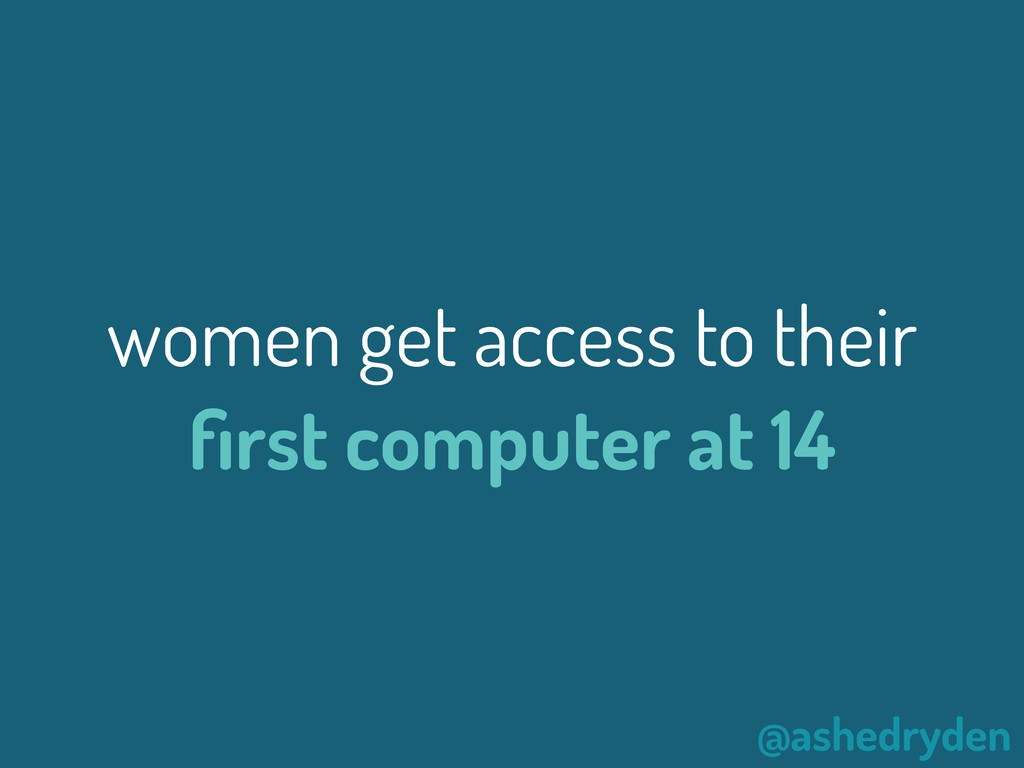 @ashedryden women get access to their first comp...