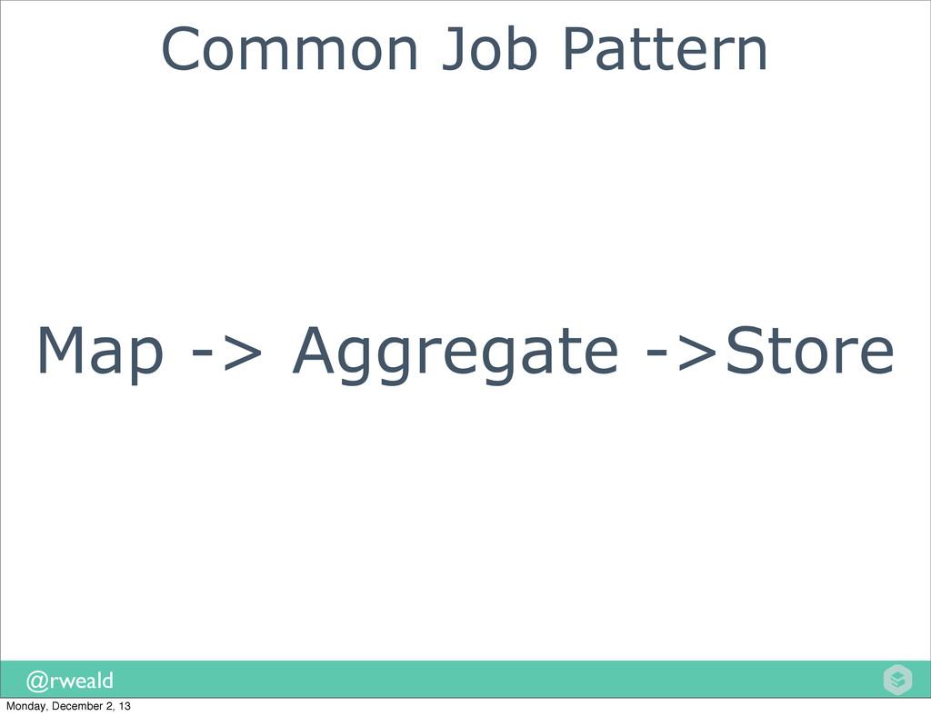@rweald Map -> Aggregate ->Store Common Job Pat...