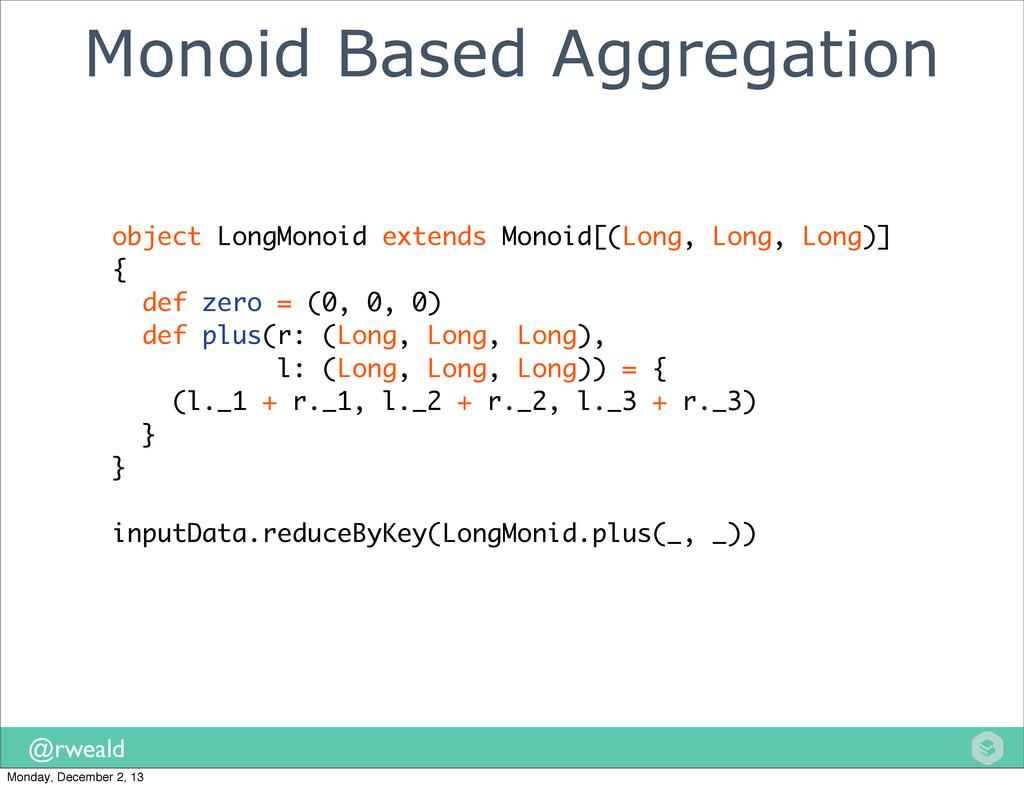 @rweald Monoid Based Aggregation object LongMon...