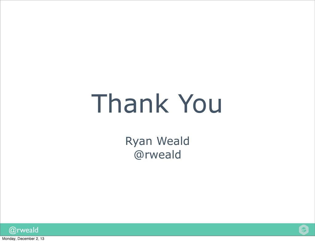 @rweald Ryan Weald @rweald Thank You Monday, De...