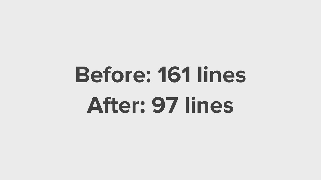 Before: 161 lines After: 97 lines
