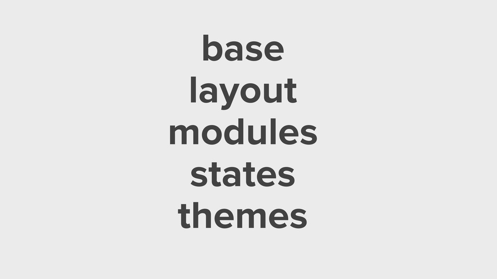 base layout modules states themes