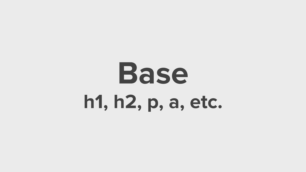 Base h1, h2, p, a, etc.