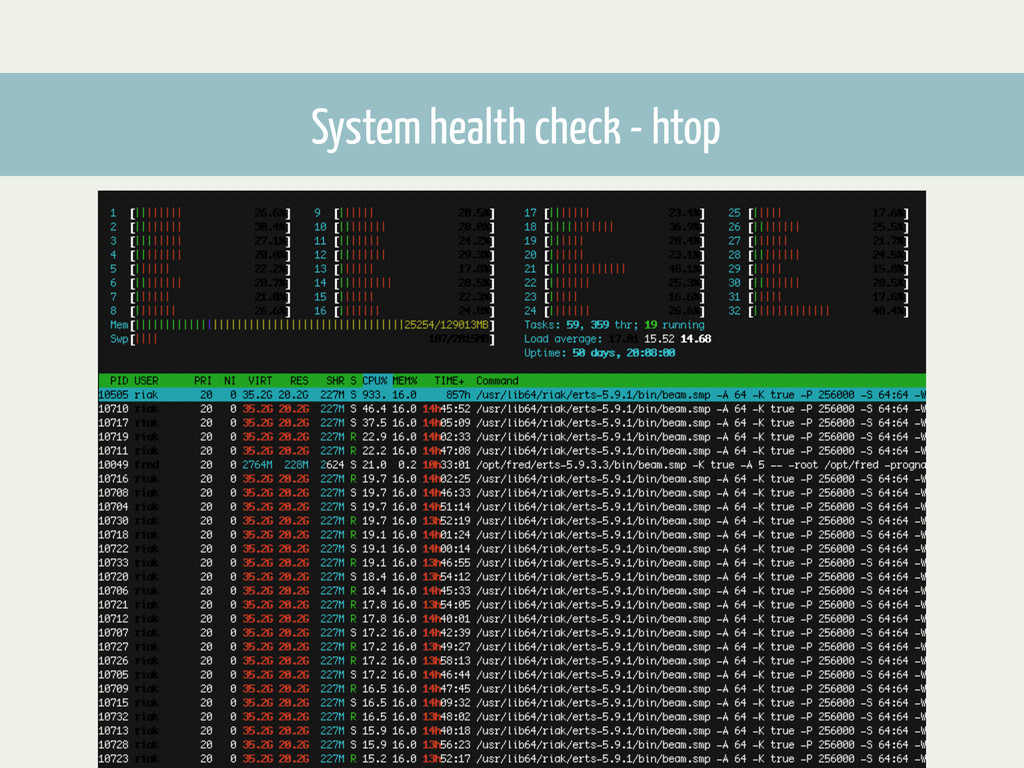 System health check - htop