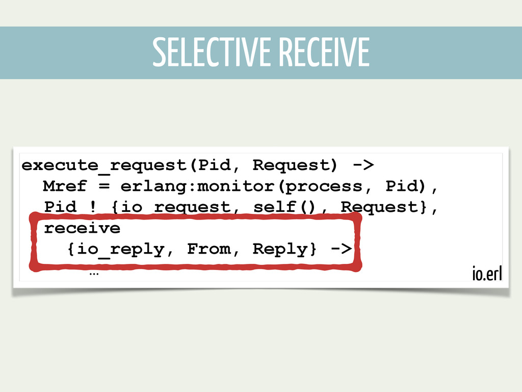 execute_request(Pid, Request) -> Mref = erlang:...