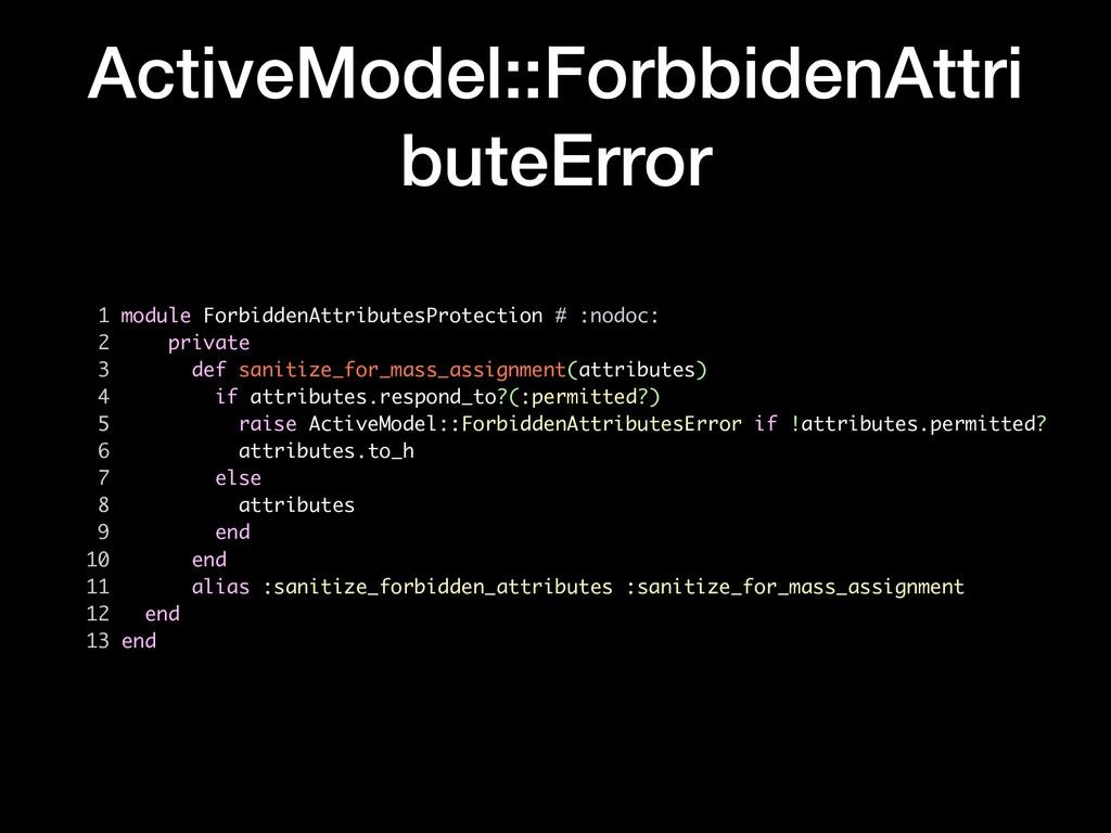 ActiveModel::ForbbidenAttri buteError 1 module ...