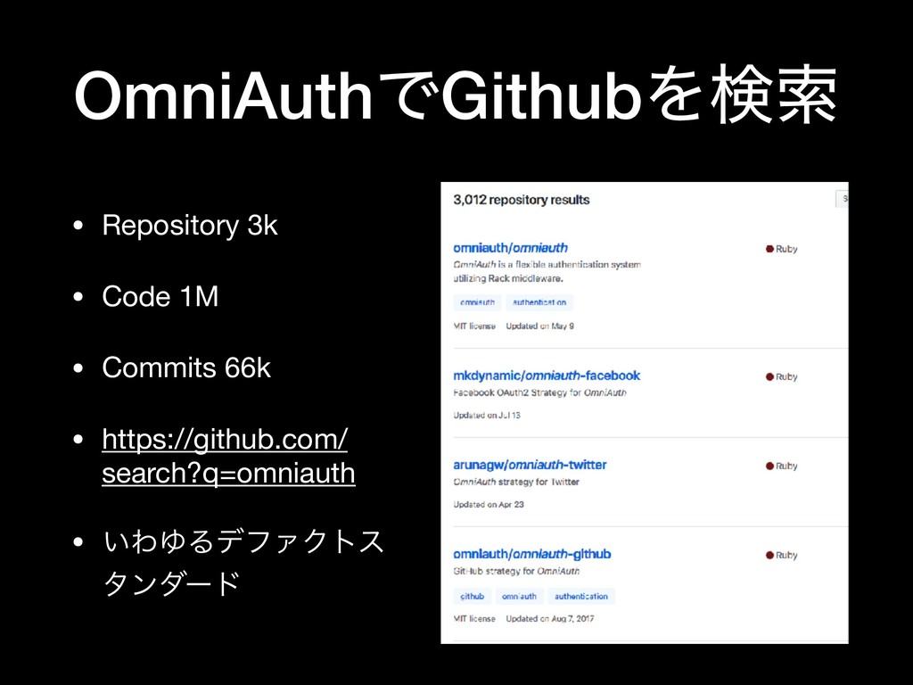 OmniAuthͰGithubΛݕࡧ • Repository 3k  • Code 1M  ...