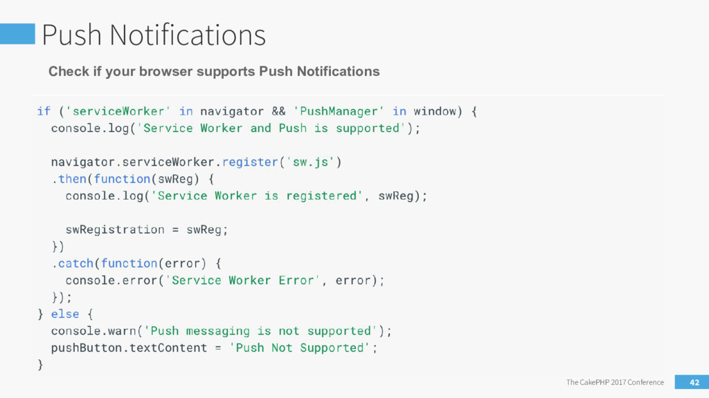 Push Notifications The CakePHP 2017 Conference ...