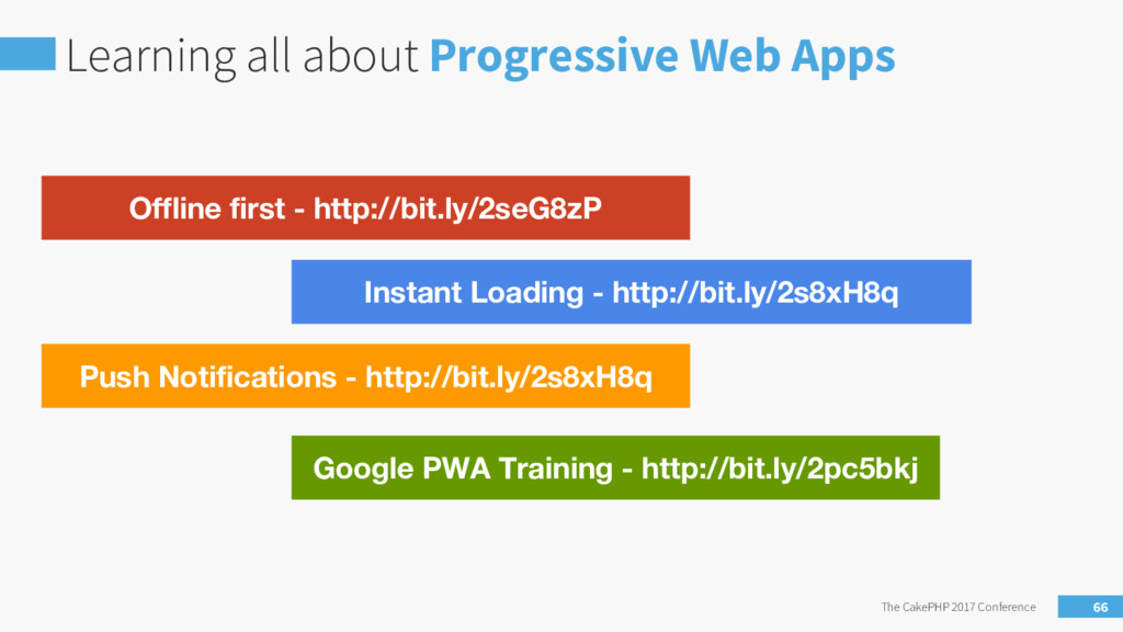 Learning all about Progressive Web Apps The Cak...