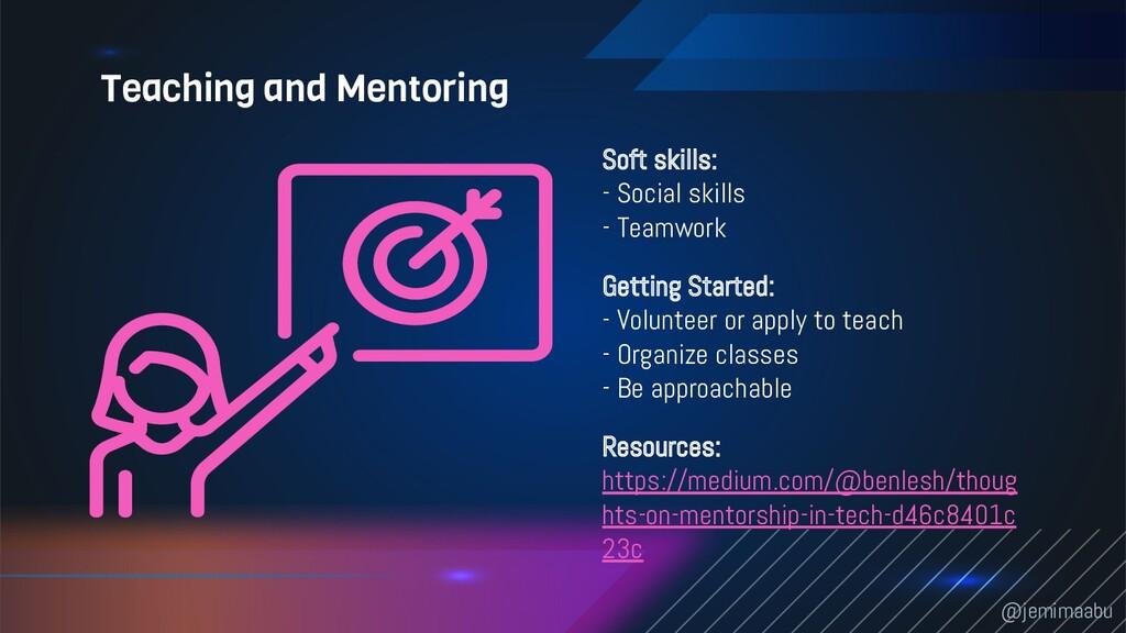 Soft skills: - Social skills - Teamwork Getting...