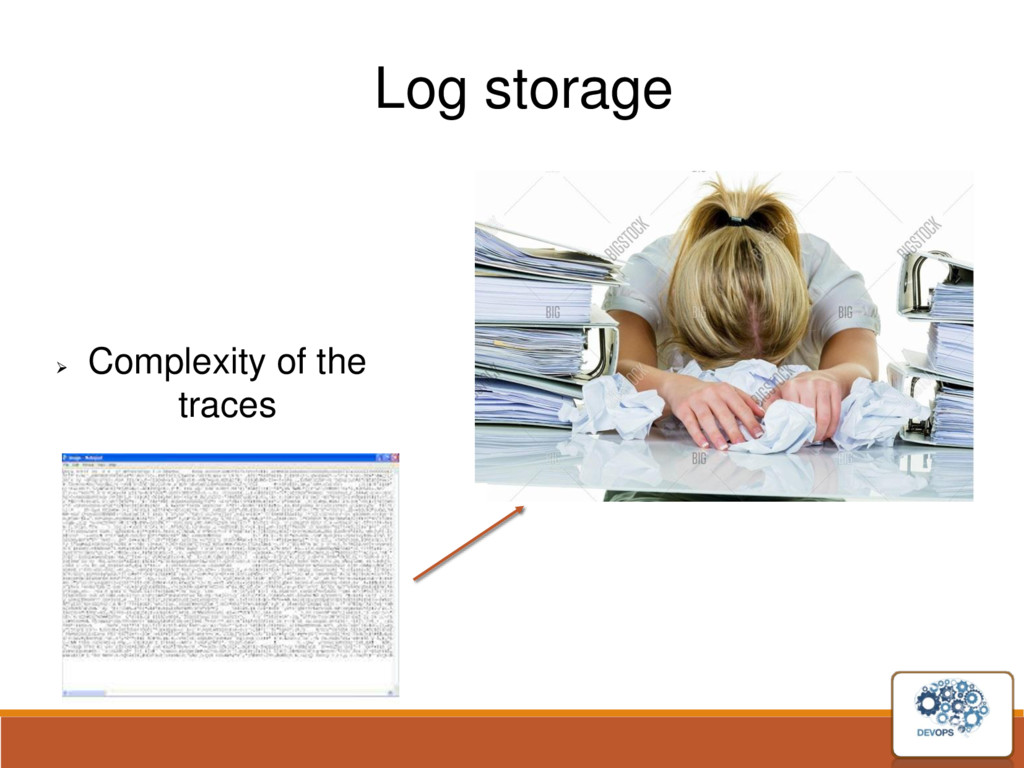 Log storage  Complexity of the traces