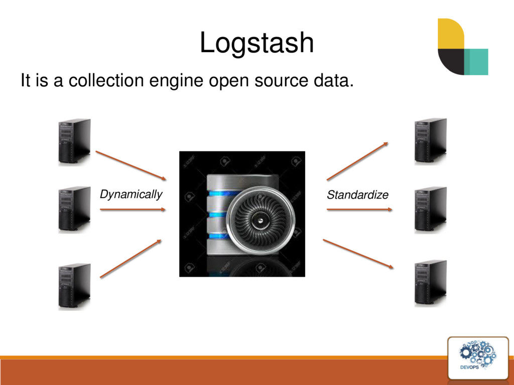 Logstash It is a collection engine open source ...