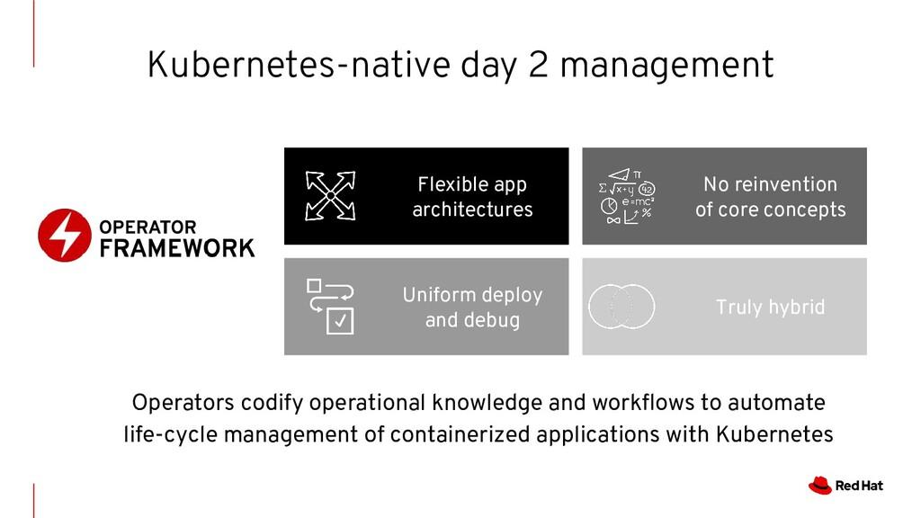 Flexible app architectures Uniform deploy and d...
