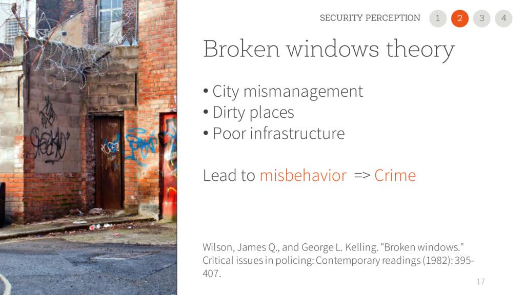 Broken windows theory • City mismanagement • Di...