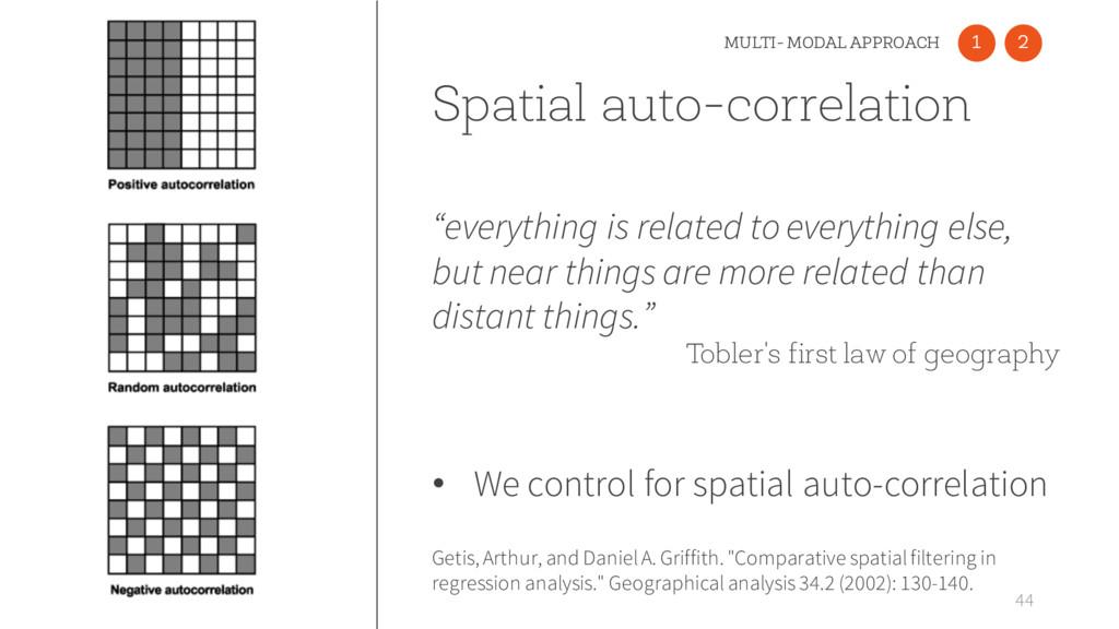 Spatial auto-correlation 44 Getis, Arthur, and ...