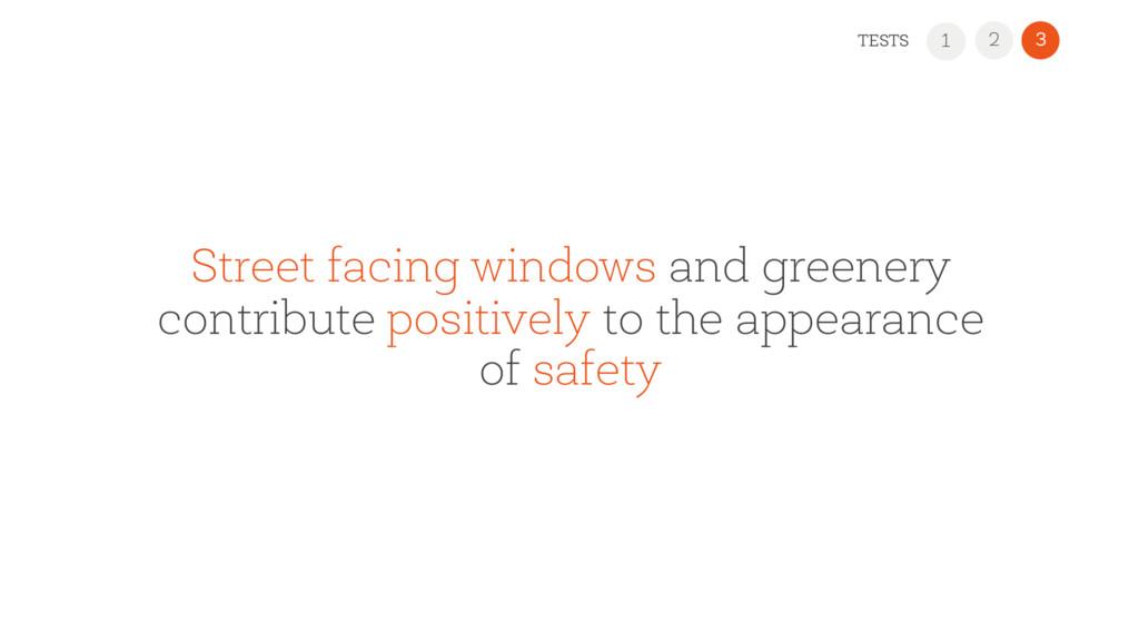 Street facing windows and greenery contribute p...