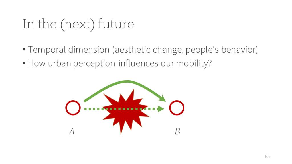In the (next) future • Temporal dimension (aest...
