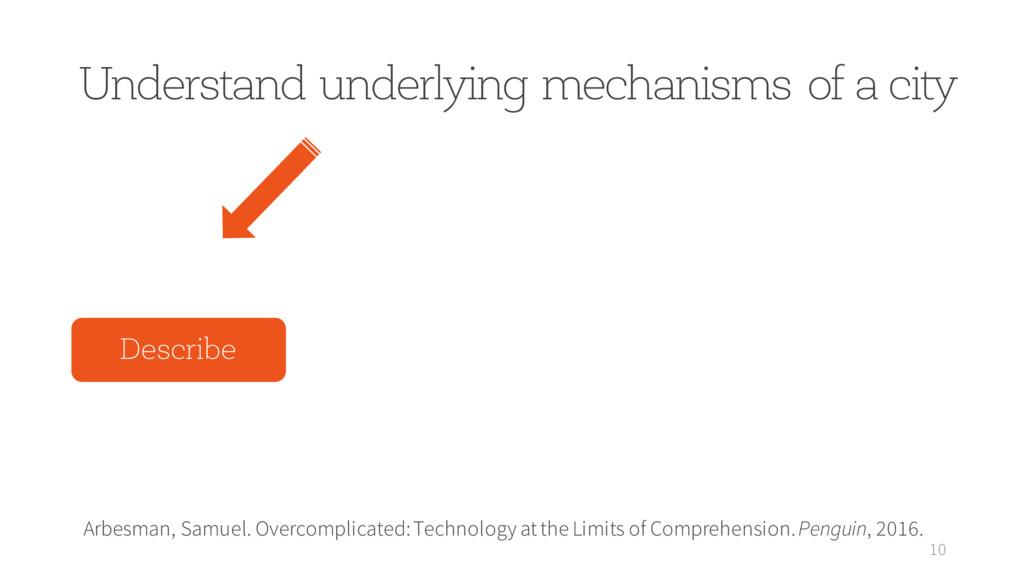 Understand underlying mechanisms of a city 10 A...