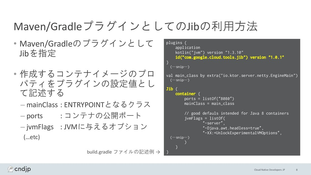 Cloud Native Developers JP Maven/Gradleプラグインとして...