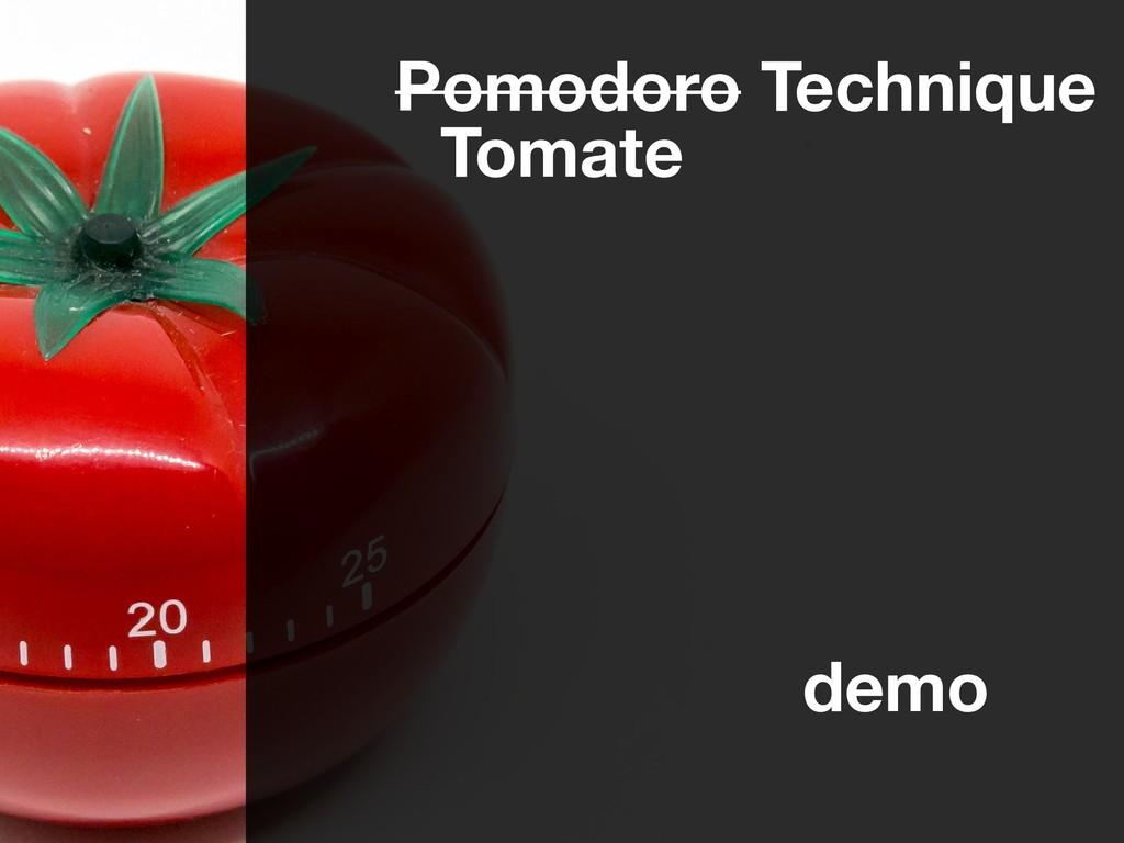 Pomodoro Technique Tomate demo