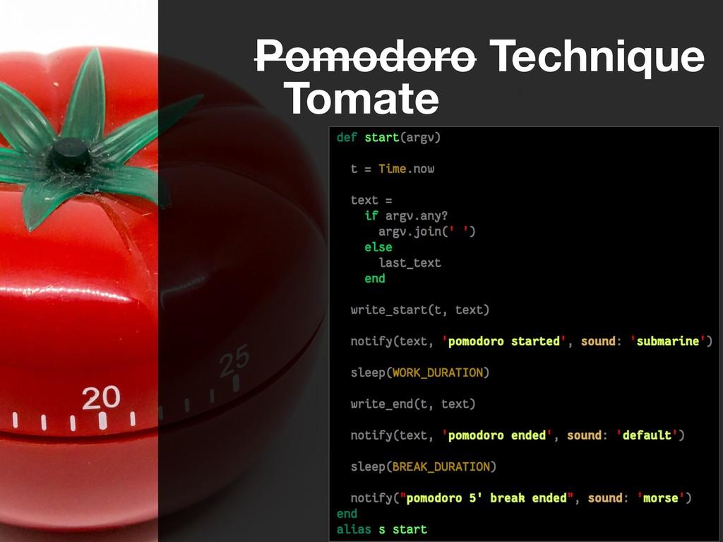 Pomodoro Technique Tomate