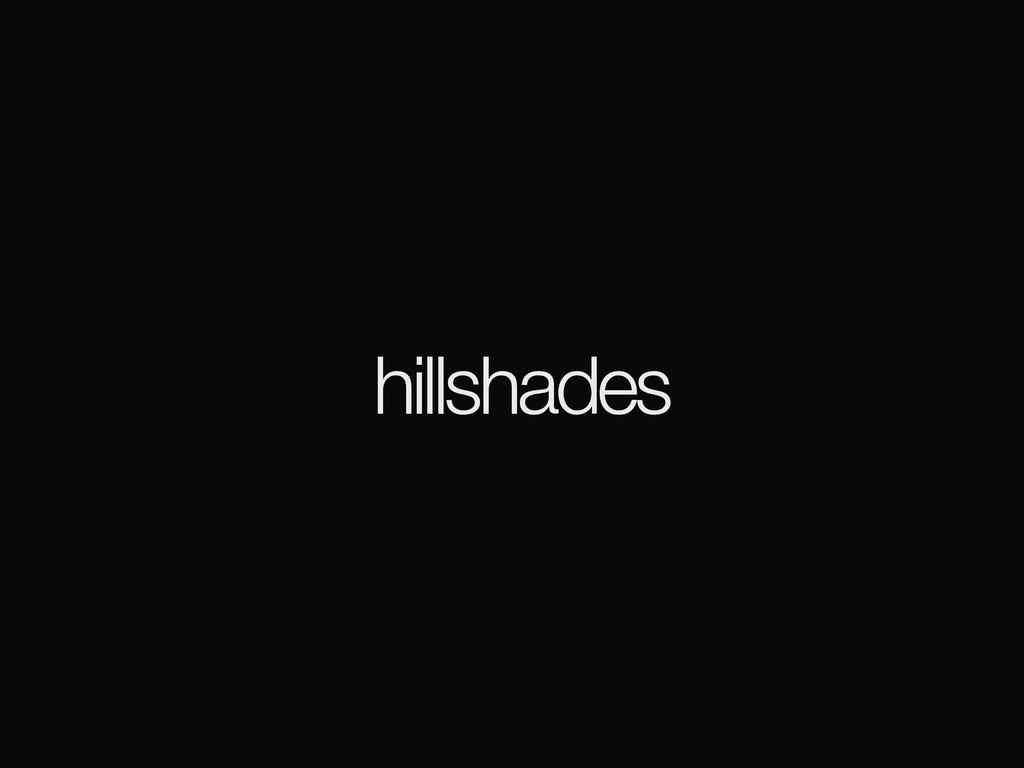 hillshades