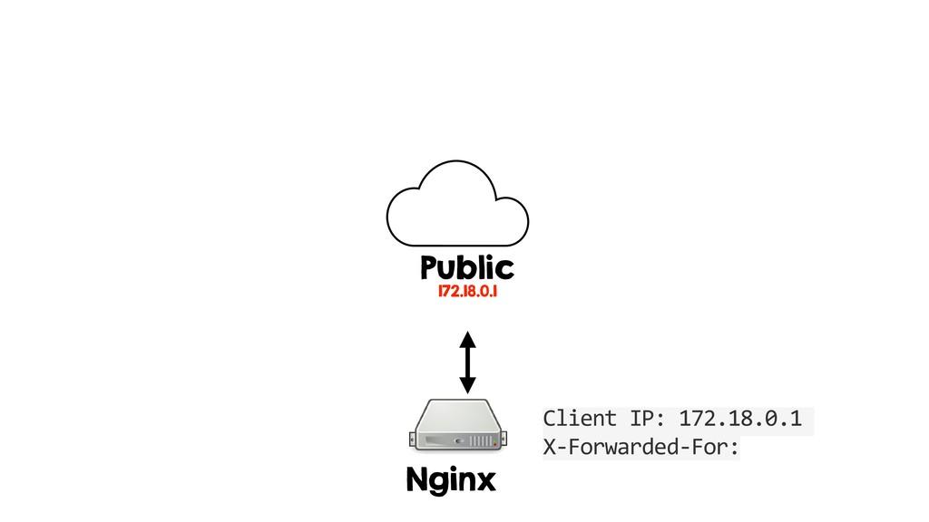 Nginx Public 172.18.0.1 Client IP: 172.18.0.1 X...