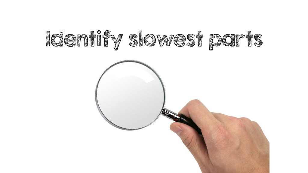 Identify slowest parts