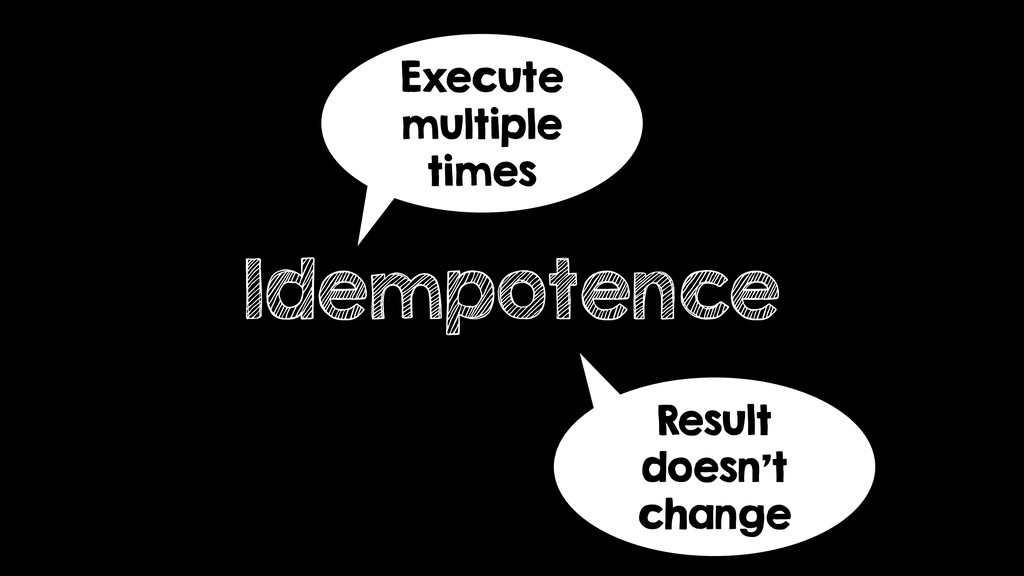 Idempotence Execute multiple times Result doesn...
