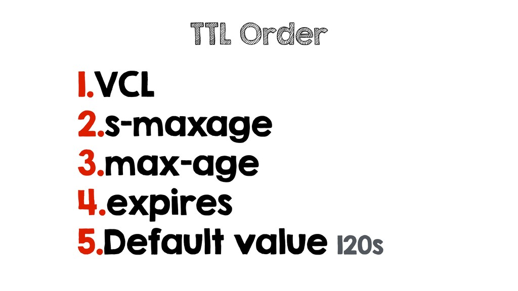 1.VCL 2.s-maxage 3.max-age 4.expires 5.Default ...