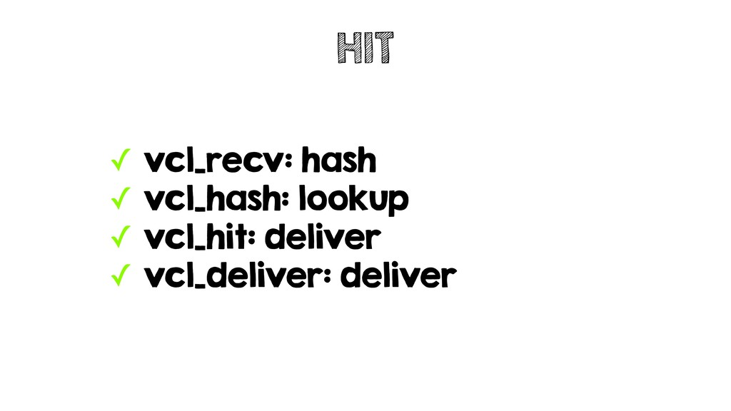 ✓ vcl_recv: hash ✓ vcl_hash: lookup ✓ vcl_hit: ...