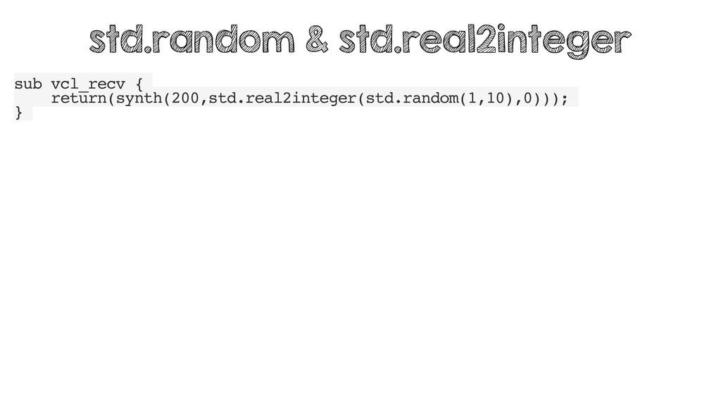 sub vcl_recv { return(synth(200,std.real2intege...
