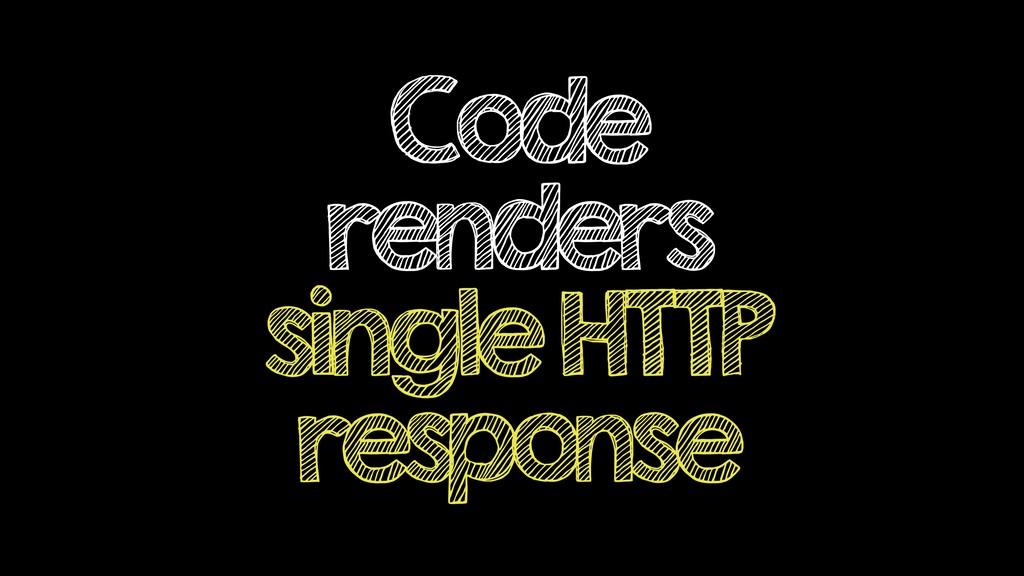 Code renders single HTTP response