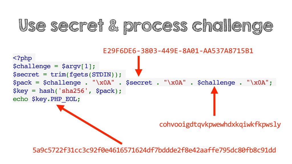 <?php $challenge = $argv[1]; $secret = trim(fge...