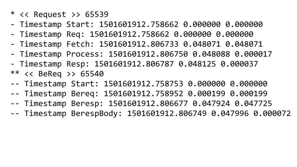 * << Request >> 65539 - Timestamp Start: 150160...