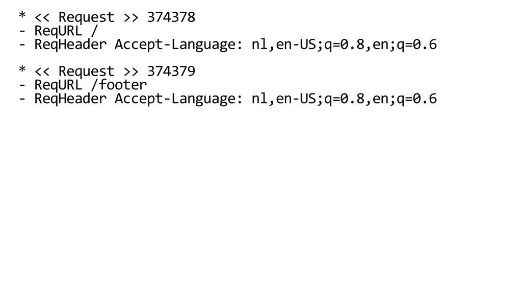 * << Request >> 374378 - ReqURL / - ReqHeader A...