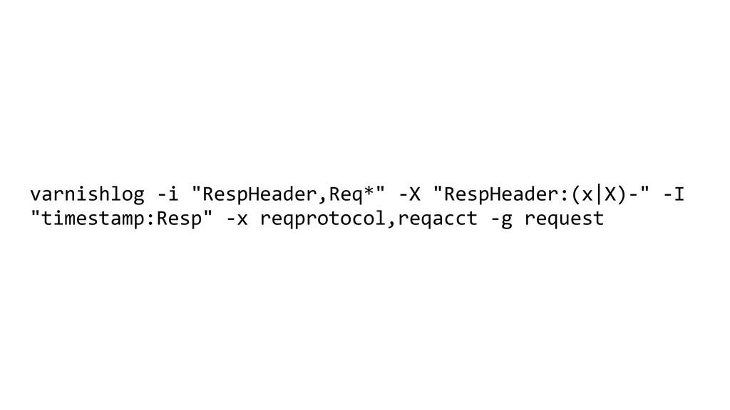 "varnishlog -i ""RespHeader,Req*"" -X ""RespHeader:..."