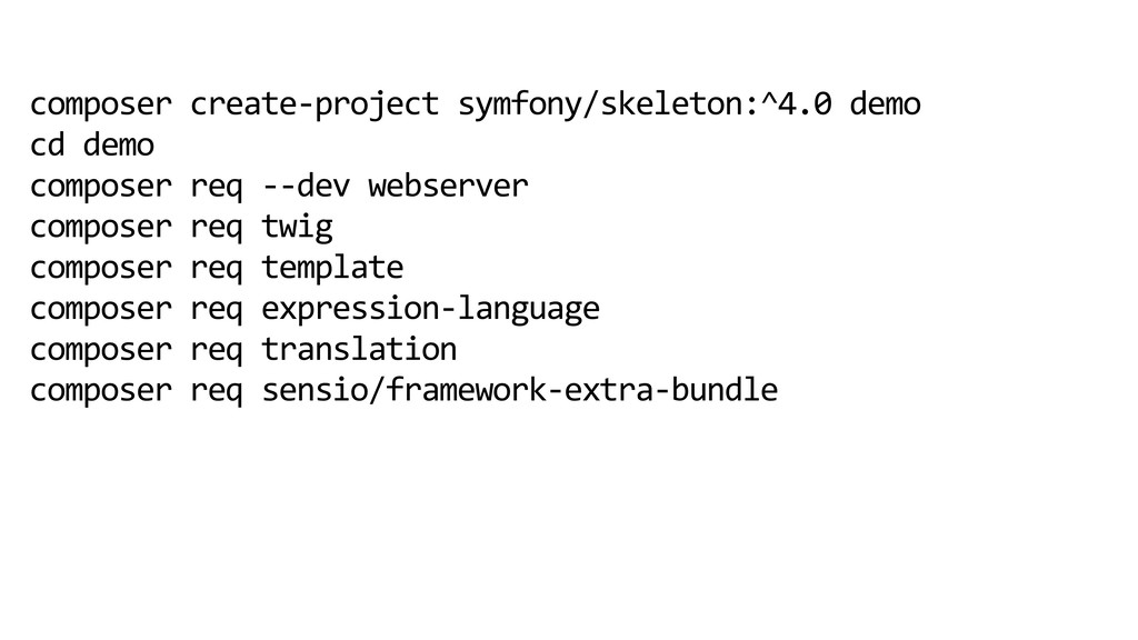 composer create-project symfony/skeleton:^4.0 d...