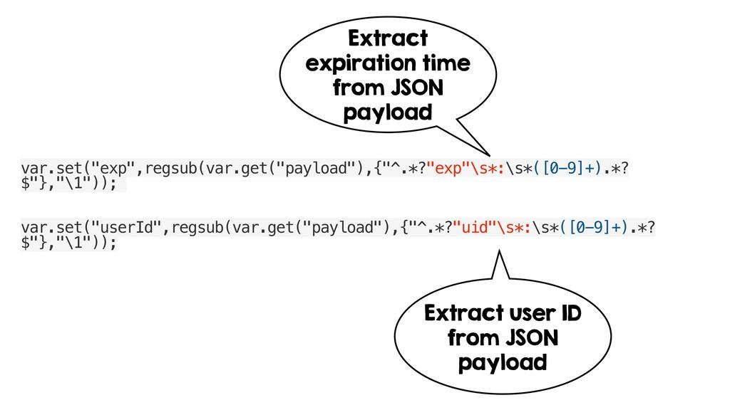 """var.set(""""exp"""",regsub(var.get(""""payload""""),{""""^.*?""""..."""