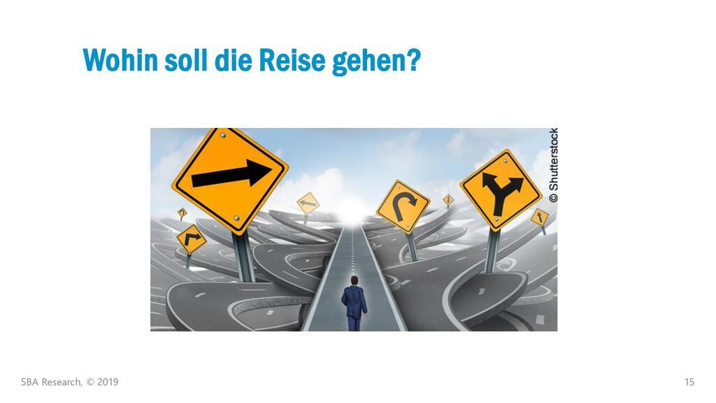 15 Wohin soll die Reise gehen? SBA Research, © ...