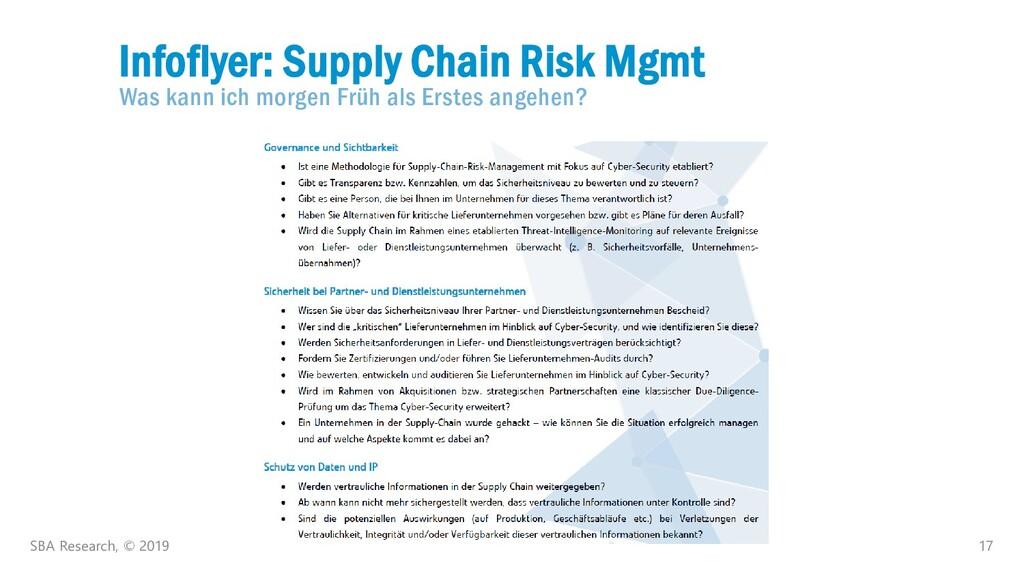 17 Infoflyer: Supply Chain Risk Mgmt Was kann i...