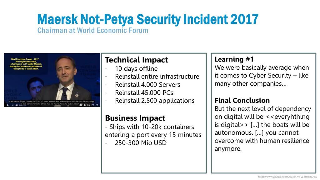 4 2017 Maersk Not-Petya Security Incident 2017 ...
